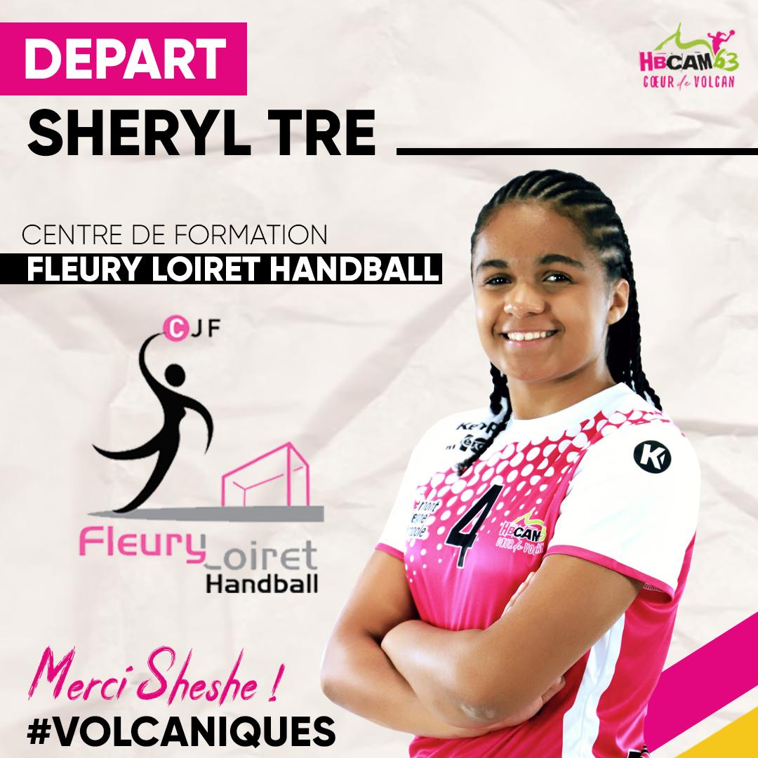 Sheryl Tré s'engage avec Fleury Loiret Handball
